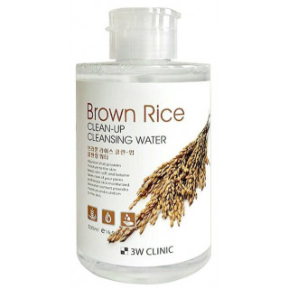 3W CLINIC Вода Мицелярная очищающая с коричневым рисом, 500 мл   для сухой и чувствительной кожи