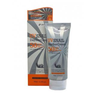 3W CLINIC Дневной Солнцезащитный крем с экстрактом улитки, спф 50, 70 гр