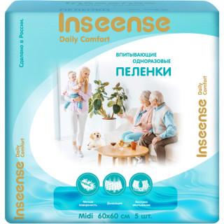 Inseense пеленки одноразовые Daily Comfort 60х60см, 5 шт