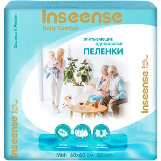 Inseense пеленки одноразовые Daily Comfort 60х60см, 30 шт