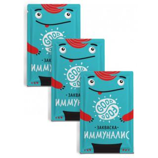 GOOD FOOD Закваска Иммуналис 1 пакетик: на 1-3 литра молока (для иммунитета идеально)
