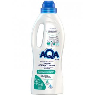 AQA BABY Жидкое средство для стирки детского белья с антибактериальным эффектом, 1000 мл