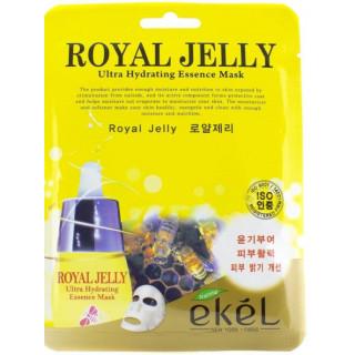 Ekel Увлажняющая маска с маточным молоком 1шт. Ultra Hydrating Essence Mask Royal Jelly