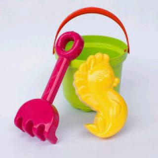 """Рославльская игрушка Набор формочек для песка с ведром """"Тип-Топ"""""""