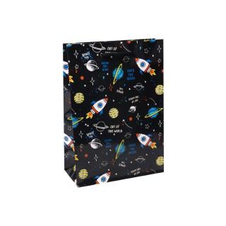 Пакет подарочный бумажный 22*31*10см Miland Далекий космос