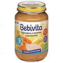 Bebivita Картофель и морковь с цыпленком, 190 гр.