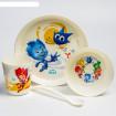 Little Angel Набор посуды Фиксики (тарелка. стакан, миска. ложка)