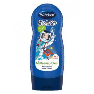 Bubchen Детский шампунь и Гель 2в1 Отважный космонавт, 3года, 230 мл - для чувствительной кожи