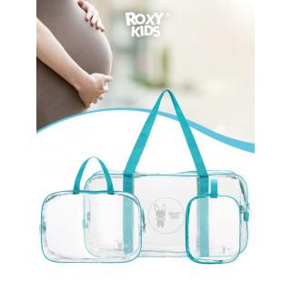 ROXY-KIDS Сумка в роддом прозрачная для беременной, 3 шт в комплекте от ROXY-KIDS