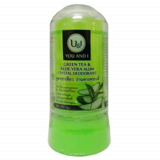U&I Дезодорант кристаллический алоэ вера и зеленым чаем, 80 гр
