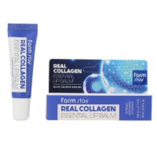 FarmStay Бальзам для губ суперувлажняющий с коллагеном Real Collagen Essential Lip Balm, 10 мл