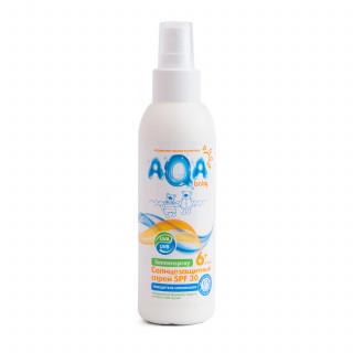AQA baby Солнцезащитный спрей СПФ30, 6мес+  150 мл.