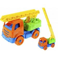 Пожарная машина Ярослав 16см оранжевая Рыжий кот