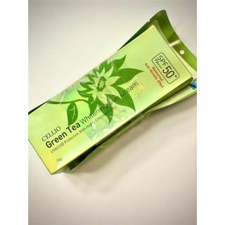 CELLIO солнцезащитный крем  SPF50+ 70мл Зеленый Чай