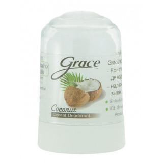 Grace кристальный алунитовый дезодорант, Тайланд, 70 г Кокосовый