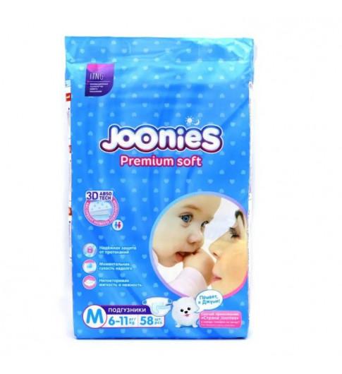 Joonies PremiumSoft Подгузники M 6-11 кг, 58 шт Джунис
