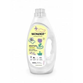 WONDERLAB Гель для стирки Цветы Хлопка, 1 литр - 20 стирок 0мес+
