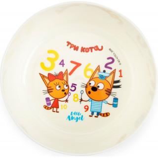 Little Angel тарелка Три Кота Учимся Считать 6мес+, 430 мл