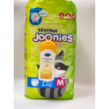 Joonies Comfort Трусики M 6-11 кг, 54 шт + Бюбхен Масло 200 мл в подарок синие (бюбхен)