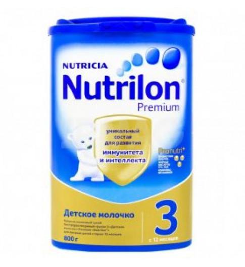 Nutrilon Premium 3 800 гр, 12мес+, РОССИЯ Нутрилон детское молочко