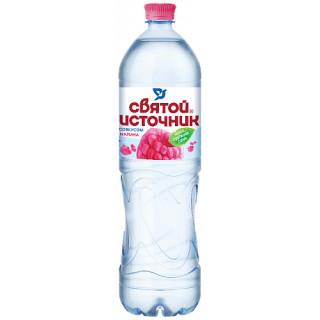 Святой Источник Вода питьевая с соком малины 1.5 л