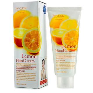 3W CLINIC Крем для рук Лимон, 100 мл - восстанавливает сухую кожу рук, питает, смягчает и увлажняет