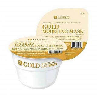 Lindsay Альгинатная маска с золотом Gold Disposable Modeling Mask Cup Pack 28 гр (повышает эластичность и упругость кожи)