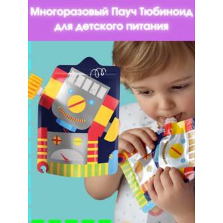 Lubby Тюбиноид Контейнер для хранения детского питания и кормления , многоразовые, 200 мл  1 шт