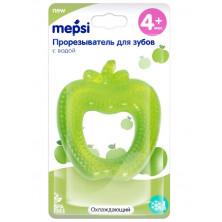 """MEPSI  Прорезыватель для зубов с водой """"Яблоко"""" охлаждающий, 4+ мес."""