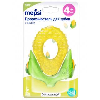 """MEPSI  Прорезыватель для зубов с водой """"Кукуруза"""" охлаждающий, 4+ мес."""