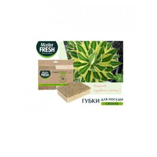 MASTER FRESH Губка для посуды 2 шт - из растений Агавы