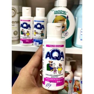 AQA baby Гель для подмывания девочек, 100 мл, 0-8лет