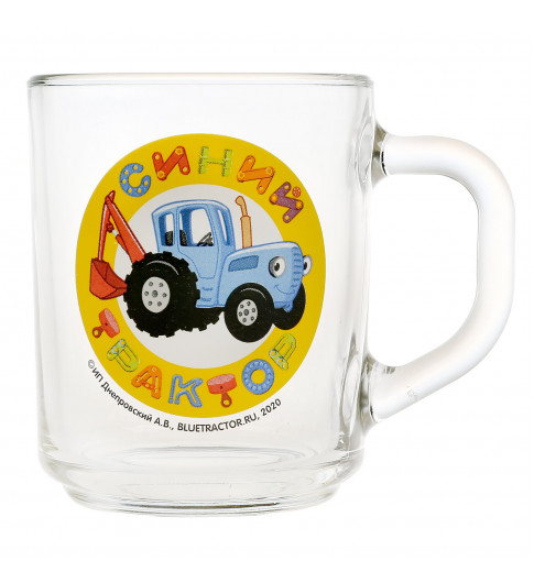 Умка Кружка Синий трактор подарочная 250 мл