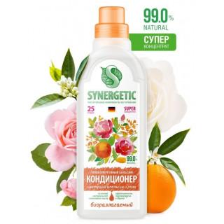 Synergetic Бальзам-кондиционер для белья «Цветущий апельсин и роза» 0,75л