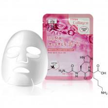 3W Clinic Тканевая маска для лица c коллагеном, 23 мл, 1 шт - КОРЕЯ (питает, увлажняет)