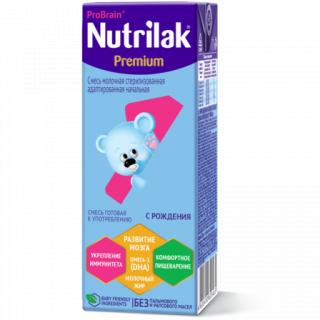 Nutrilak (Нутрилак) Премиум Молочная смесь 1, 0-6 мес, 200 мл - ГОТОВАЯ СМЕСЬ