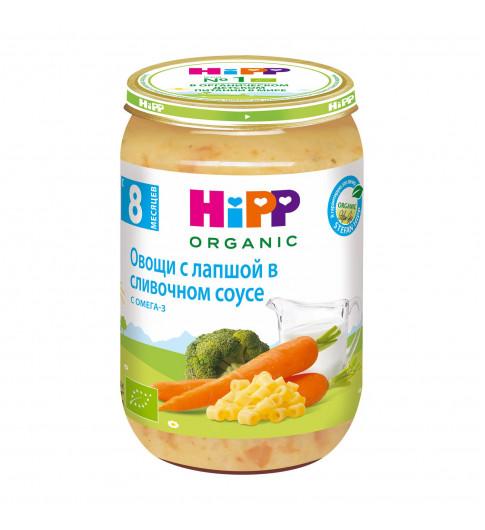 Hipp Пюре Овощи с лапшой в сливочном соусе, 8мес+, 220гр